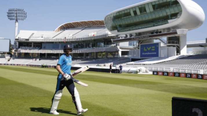 England's Joe Root walks from the field during a practice