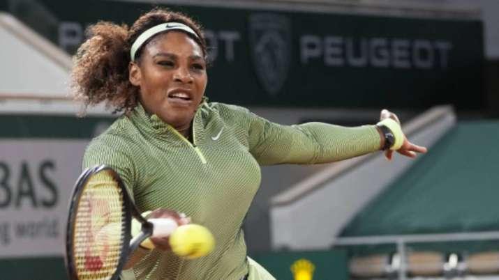 United States Serena Williams plays a return to Romania's