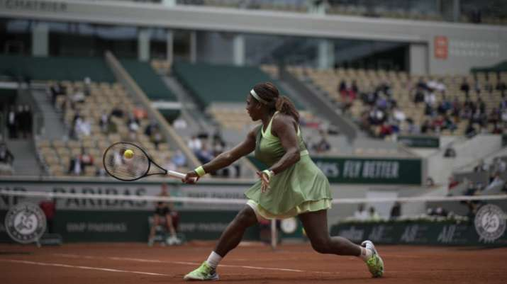 United States Serena Williams plays a return to United