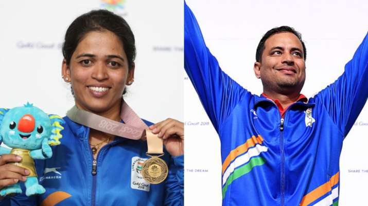 India's duo of Tejaswini Sawant and Sanjeev Rajput