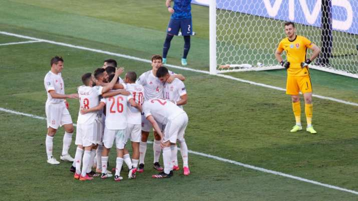 Euro 2020: Spain advance to round-of-16 with 5-0 win over Slovakia