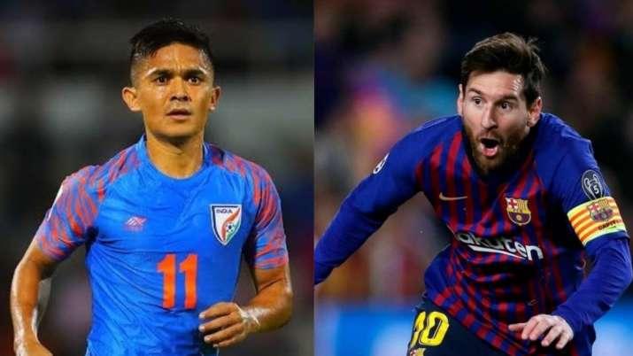 Lionel Messi, Sunil Chhetri