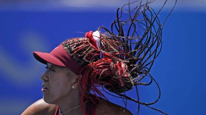 Naomi Osaka, of Japan, plays against Saisai Zheng, of