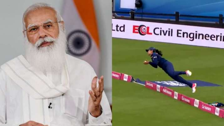 PM Modi applauds Harleen Deol on her stunning catch during T20I against England