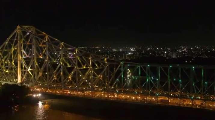 Howrah Bridge lit up