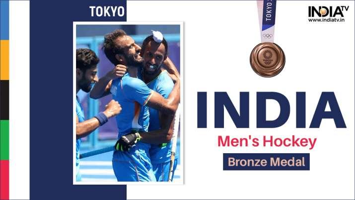 India men's hockey team wins historic Tokyo Olympic Bronze medal; beats Germany 5-4