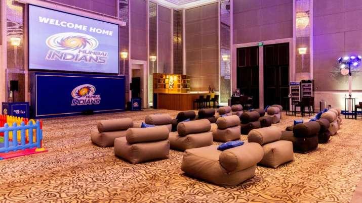 A sneak peek into the Mumbai Indians' team room in UAE