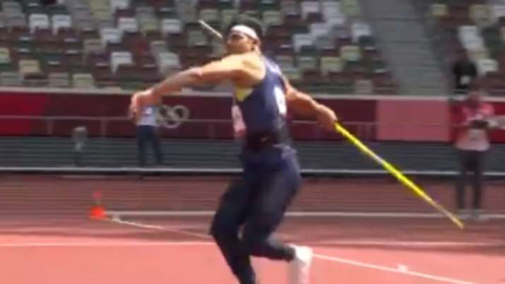 Watch: Neeraj Chopra's first attempt which secured automatic qualification at Tokyo Olympics