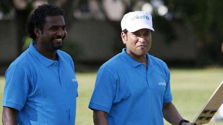 Muttiah Muralitharan and Sachin Tendulkar