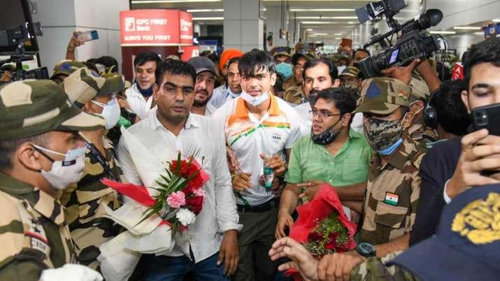 India's golden boy Neeraj Chopra returns home to grand