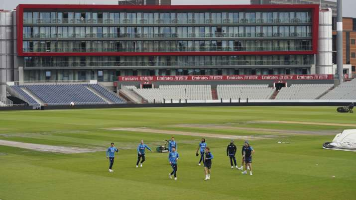 England players during a nets session before the 5th Test