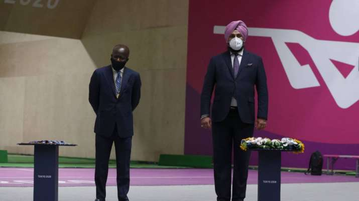 IOC Member Mamadou D. Ndiaye and Raninder Singh