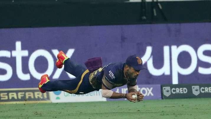Rahul Tripathi's catch